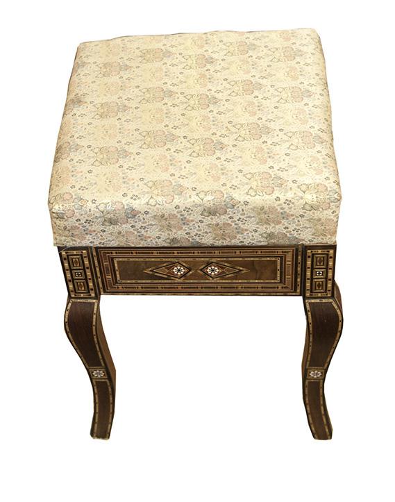 Marvelous Syrian Upholstered Dressing Table Mosaic Stool Artiquea Lamtechconsult Wood Chair Design Ideas Lamtechconsultcom