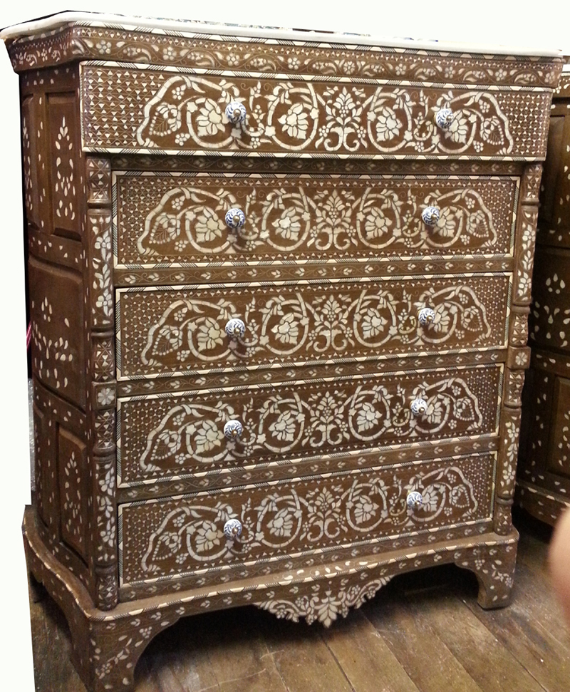 Mother Of Pearl Chest With 5 Drawers Artiquea