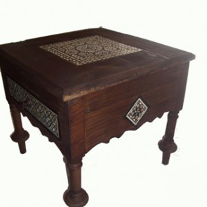 mother of pearl table with one drawer_1