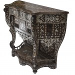 Damascene_console_table_inlaid_with_mother_of_pearl_and_camel_bone