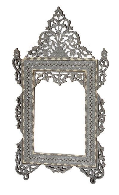 Fully Inlaid Mother Of Pearl Mirror Artiquea